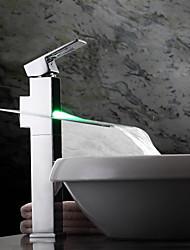 Farbwechsel LED Wasserfall Waschbecken Wasserhahn (groß)