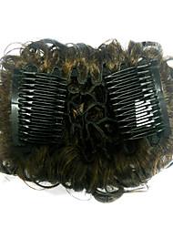 Top Grade Qualidade Sintética Darkest Cabelo castanho Wraps