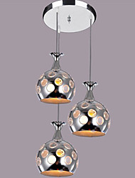 Modern Creative 3 Lights Pendant In Bottle Shape