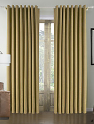 Modern One Panel Solid Yellow Living Room Polyester Panel Curtains Drapes
