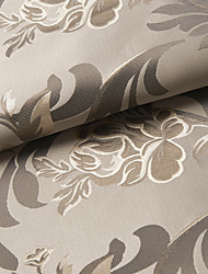 un panel marrón jacquard gardern cortina blackout