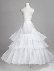Poliéster e tule completa Vestido de Noiva até o chão de casamento Deslizamento Style / Petticoat