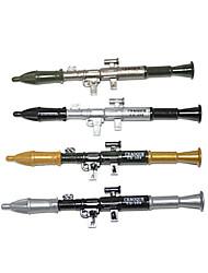 foguete lançador de caneta esferográfica de tinta azul (cor aleatória 2pcs)