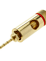 High-Quality Gold Plated Speaker Pin Plugs Pin Crimp Type
