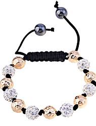 lureme®disco Ball mit Perlen geflochten Armband