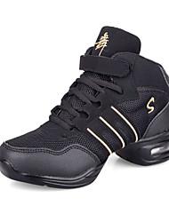 Cuero de las mujeres de las zapatillas de deporte y el tejido superior de baile (más colores)