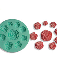 Rose Shape Silicone Mould Cake Decorating Baking Tool(random color)