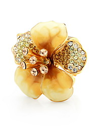 Graceful Alloy Platinum Plated Stoving Varnish with Rhinestone Adjustable Ring(More Colors)