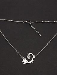 Запуск Cute Cat Ожерелье