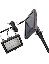 Solar Power Ultra Bright 30 Led Garden Flood Spot Light Lawn Cool White Lamp(Cis-57129)