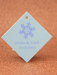 Personalized Favor Tags - Snowflake(set of 30)