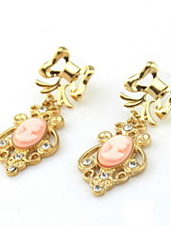 Dashing Alloy With Rhinestone Women's Pierced Earrings