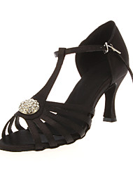Glamorous Customized Women's Satin Upper Dance Shoes