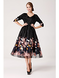 TS Simplicity Embroider Organza Swing Maxi Dress