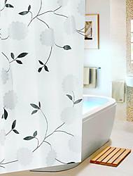 Modelo de flores EVA cortina de ducha