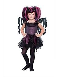 Gothic Fairy Purple Dress Kids Halloween-Kostüm