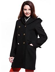 Women's Coats & Jackets , Tweed Casual KARORINLAN