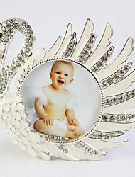 Alloy Swan Shaped Photo Frame With Rhinestone