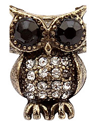 South Korea Full Of Diamond Jewelry Retro Owl Ring