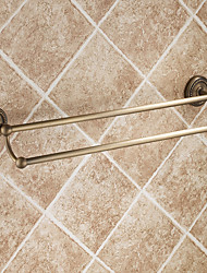 Antique Elegance Double Bars Brass Bathroom Towel Bar