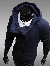 suéter con capucha cruzada de los hombres