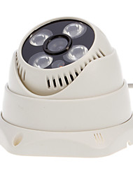 CCTV 1/4 de polegada CMOS 800TVL Indoor Dome Camera (4 matriz LED, IR-cut)