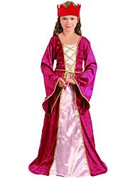 Ásia Oriental Princesa Fushcia Vestido Costume Crianças
