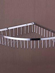 Simple Chrome Finish Brass Triangle Bathroom Shelf