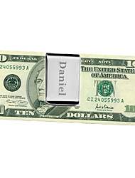 Gift Groomsman Wide Stainless Stea Money Clip
