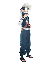 Inspired by Naruto Hatake Kakashi Anime Cosplay Costumes Cosplay Suits Patchwork Ink Blue Long Sleeve Top / Pants / Belt / Bag