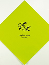 Personalized Wedding Napkins Mr and Mrs(More Colors)-Set of 100