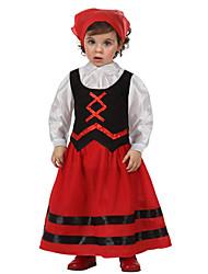 Exotic Hungria preto e vermelho Costume Crianças
