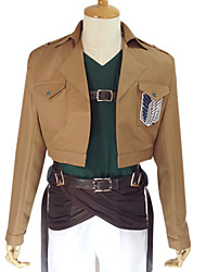 Inspired by Attack on Titan Reiner Braun Anime Cosplay Costumes Cosplay Suits Solid Long SleeveCoat Top Pants Waist Accessory Belt Strap