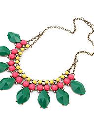 bohème douce collier de strass vert