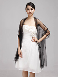 Shawls / Wedding  Wraps Shawls Sleeveless Tulle Black Wedding / Party/Evening Open Front