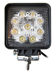 27W 9 LEDs Square Work Light