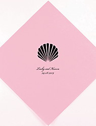 Personalized Wedding Napkins Seashell(More Colors)-Set of 100