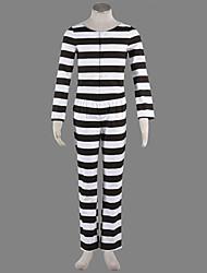 Costumes de Cosplay / Costume de Soirée Animal Fête / Célébration Déguisement Halloween Noir/blanc Rayé Manteau / PantalonHalloween /