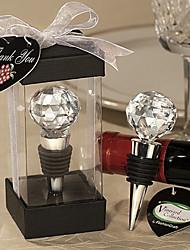 Boule de cristal design bouchons de vin