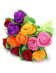 Roses Cloth Art Ballpoint Pen(Random Color)