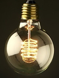 E27 40W Incandescent Bulb Ball Bulb With White Shade