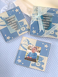 Cute Baby Bear Coaster (Baby blue)