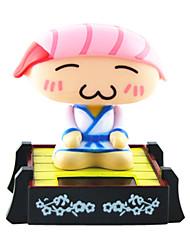 Солнечные шеф-повар суши трясущейся головой игрушка Розовый Суши руководителя