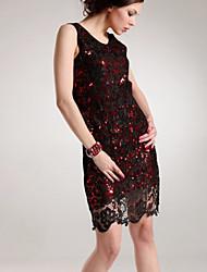 Luxueux Soluble gaine robe de soirée TS fleur de Sequin de dentelle formelle