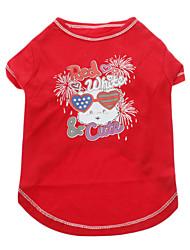 T-shirt - Chiens - Eté Rouge - en Coton - XXS / XS / S / M / L / XL / XXL / XXXL