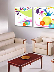 Stretched Canvas Art Abstract Balls Set of 2