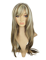 Capless Top Grade Synthetic Mixed Color Straight Long Hair Wig