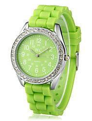 Women's Zinc Alloy Case Quartz Movement Silicone Band Analog Wrist Watch(More Colors)