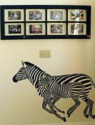 Животное Запуск Zebra стены Стикеры