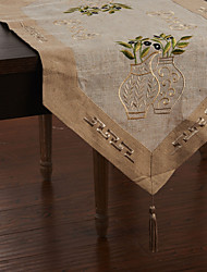 Grey Linen Table Runners